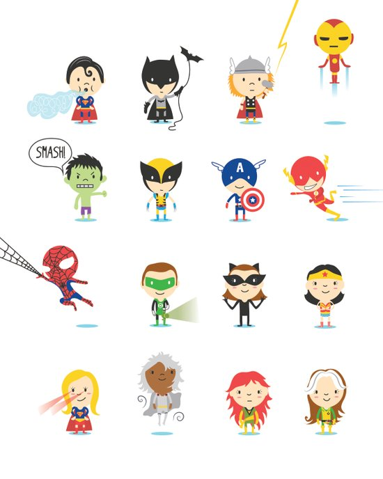 Superhero! Art Print