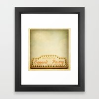 Cannoli Pastry Stand Framed Art Print