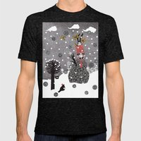 Snow Magician Mens Fitted Tee Tri-Black SMALL