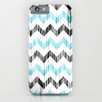Grunge Chevron Black/whi… iPhone 6 Slim Case