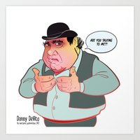 Danny De Vito Is Talking… Art Print