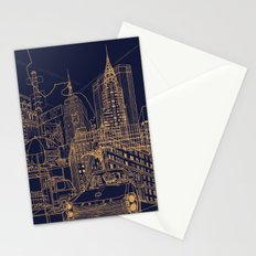 New York! Night Stationery Cards