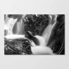 Shelving Rock Stream - Black & White Canvas Print