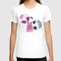 Gilda Womens Fitted Tee White SMALL