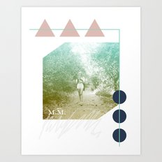 M.M. Collage Art Print