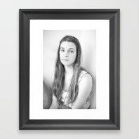 Lily B+W Framed Art Print
