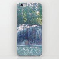 Turquoise Waterfall iPhone & iPod Skin