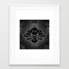 Scarab Vignette Framed Art Print