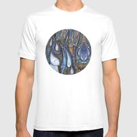 Dewdrop Meets the Rain Mens Fitted Tee White SMALL