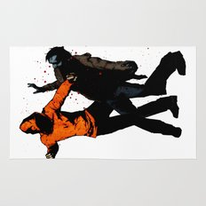 Zombie Fist Fight! Rug
