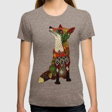 fox love juniper Womens Fitted Tee Tri-Coffee LARGE