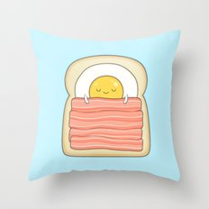 bed and breakfast Throw Pillow