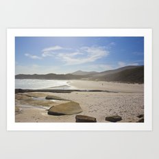 Squeaky Beach Art Print