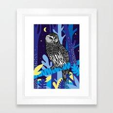 Night Owl Framed Art Print