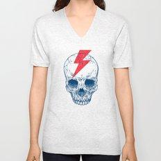 Skull Bolt Unisex V-Neck