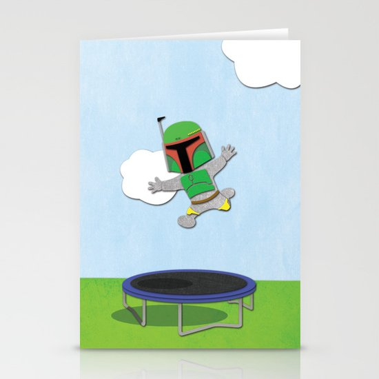 SW Kids - Boba Fett Jump Stationery Card