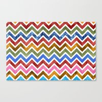 Chevrons In Color Canvas Print