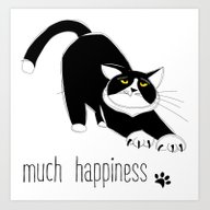 Much Happiness! Art Print