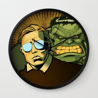 Wall Clock featuring A Banner Year by BinaryGod.com