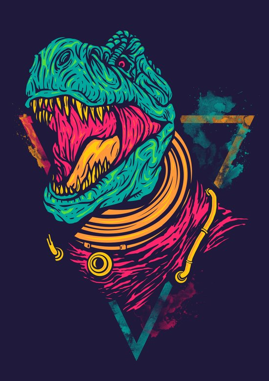 Space Rex Art Print