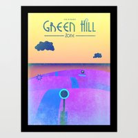 Sonic - Green Hill Zone travel poster Art Print