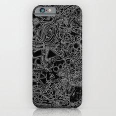 White/Black #1 iPhone 6s Slim Case