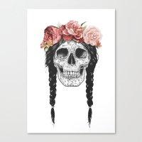 Festival skull Canvas Print