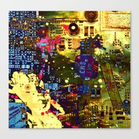 Circuit Board Lost Canvas Print