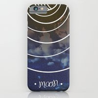 iPhone & iPod Case featuring Moon Phases by rollerpimp