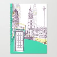Lovely London Canvas Print