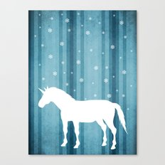 Winter Falls Unicorn Canvas Print