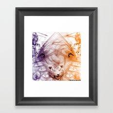 Tiger Family Framed Art Print