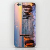 Rushing Waves at Sunset iPhone & iPod Skin
