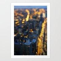 City Nights #1 Art Print