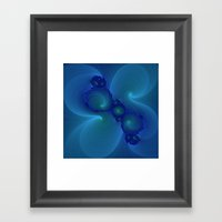 Blue Tempest Framed Art Print