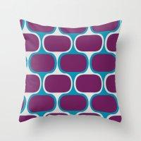 Swimcap Girl Throw Pillow
