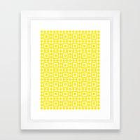 Moroccan Tiles Yellow Framed Art Print