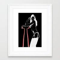 Night girl...) Framed Art Print