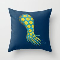 The Deceitful Smiley Fac… Throw Pillow
