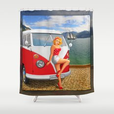 Holiday on Lake Garda in 1959 Shower Curtain