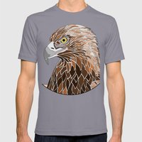 Bird of Prey Mens Fitted Tee Slate SMALL