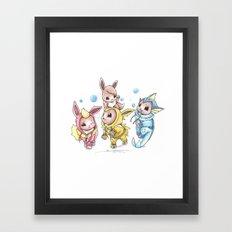 Bursting Bubbles Framed Art Print