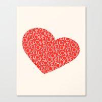 Heart Full Of Love Canvas Print