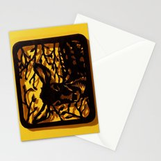 Sleeping Fawn Papercut Stationery Cards