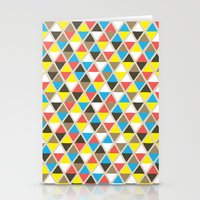 Tribal Triangles Stationery Cards
