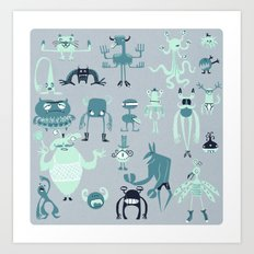 Monsters! Art Print