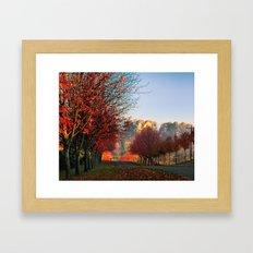 Autumn Ohio country roads Framed Art Print