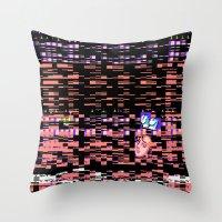 Static XXX Throw Pillow