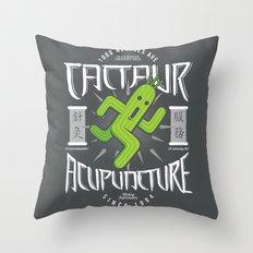 Cactaur Acupuncture Throw Pillow