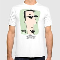 Pre-approved Opinions Mens Fitted Tee White SMALL